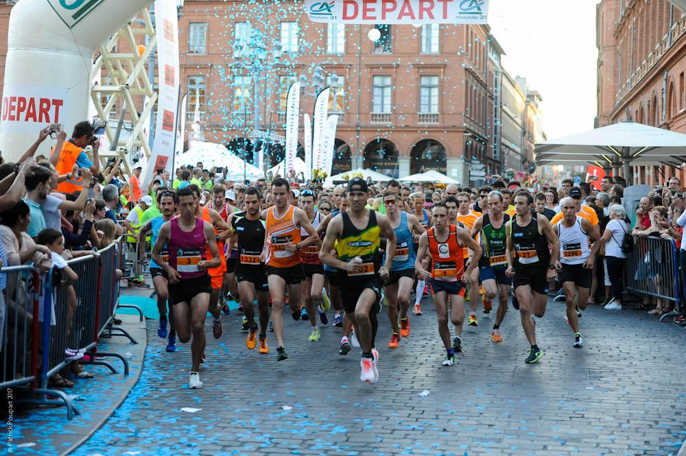 photo départ du 10km Corrida Crédit Agricole Toulouse 31