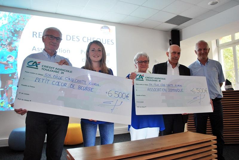 Corrida Crédit Agricole Toulouse 31 : 13 000€ de bénéfices reversés à 2 associations