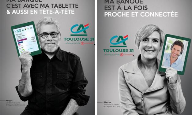 Au Crédit Agricole Toulouse 31, votre banque, c'est en tête à tête où avec votre smartphone*