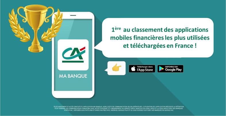 Ma Banque arrive en tête du classement des applications mobiles financières*