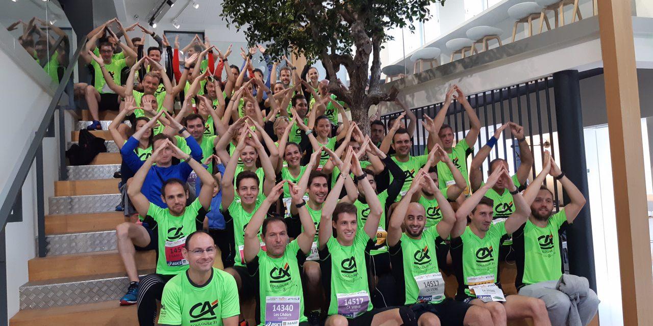 Les collaborateurs engagés pour le relais du Marathon de Toulouse