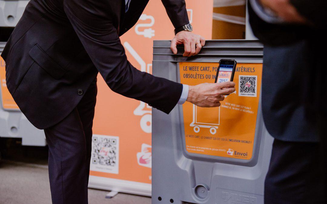 Opération recyclage avec WEE CART, le chariot connecté