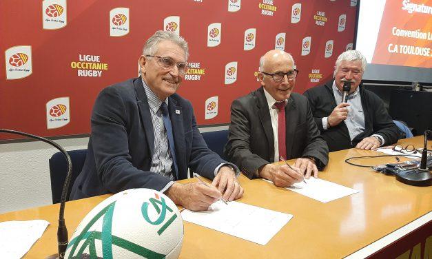 Le Crédit Agricole Toulouse 31 renouvelle son partenariat avec la Ligue de Rugby Occitanie.