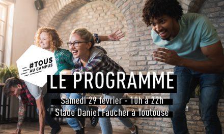Programme du salon #Tousaucampus le samedi 29 février