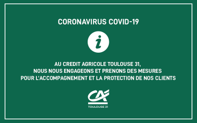 Au Crédit Agricole Toulouse 31, nous nous engageons et prenons des mesures pour l'accompagnement et la protection de nos clients