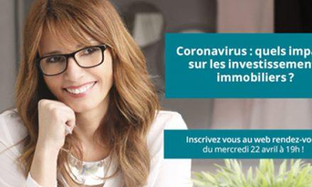 Webconférence « Coronavirus : quels impacts sur les investissements immobiliers ?