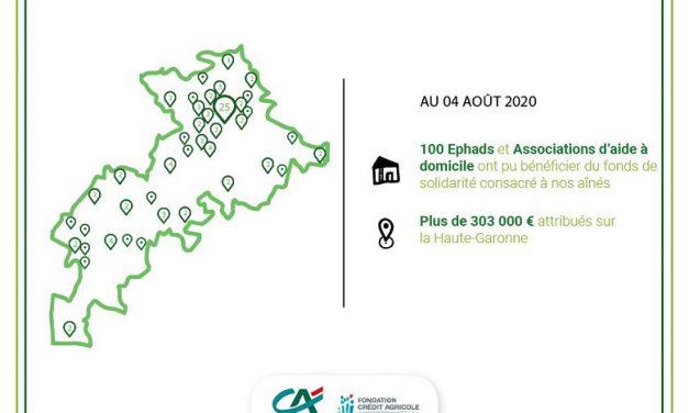 Fonds solidarité des aînés: plus de 303 K€ versés par le Crédit Agricole Toulouse 31