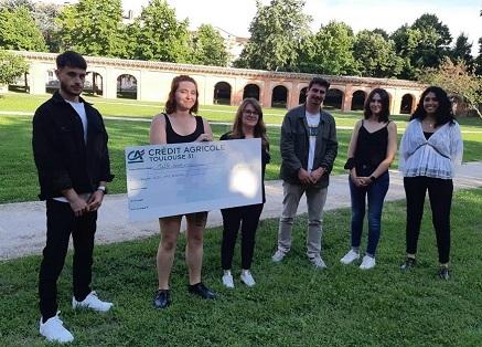Disrupt Campus : l'équipe N3C MyChimio remporte le prix Crédit Agricole Toulouse 31 !