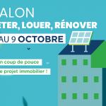 Du 5 au 9 octobre : retour du e-salon Acheter, Louer, Rénover, spécial « Transition énergétique »